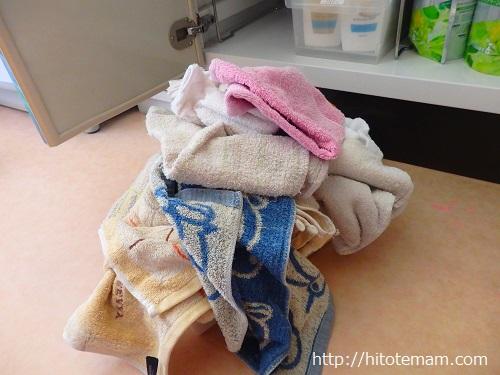 洗面台下タオルストック
