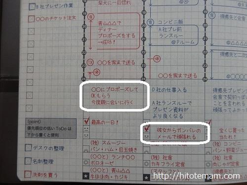 ジブン手帳記入例