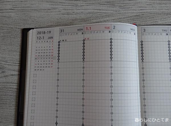 ジブン手帳週間バーチカル