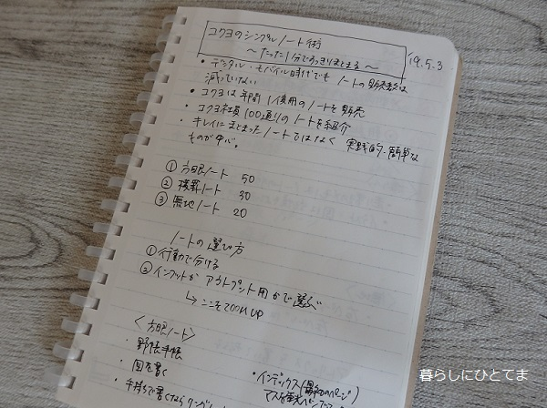 コクヨ横罫メモ帳