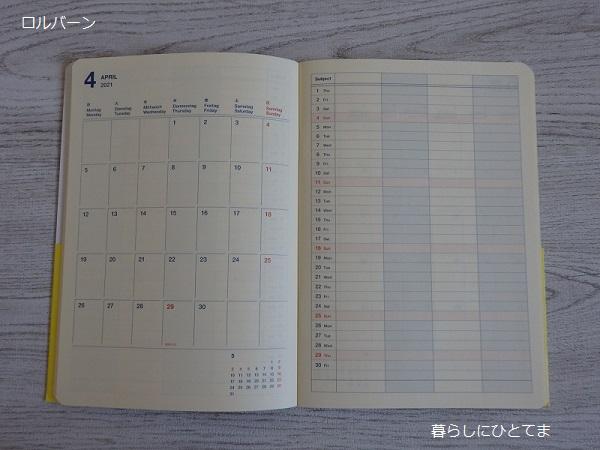 ロルバーン手帳中身